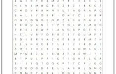 Printable Word Searches Movies